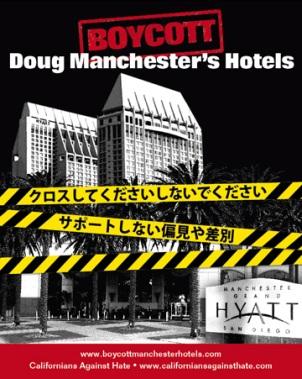 Manchester hotels boycott goes global.